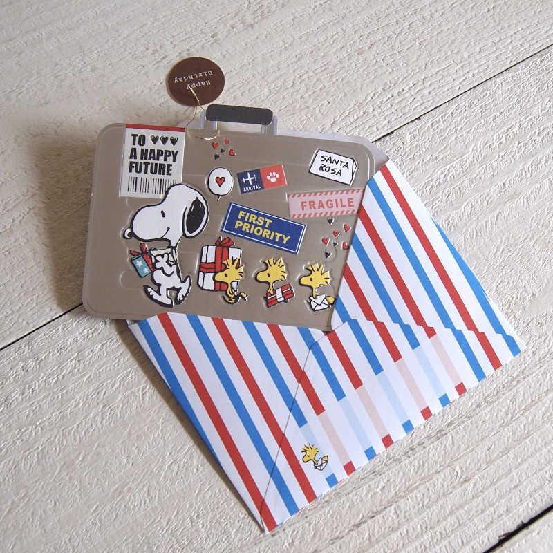 グリーティングカード PEANUTS スヌーピー 立体バースデーカード / バースデーラゲッジ