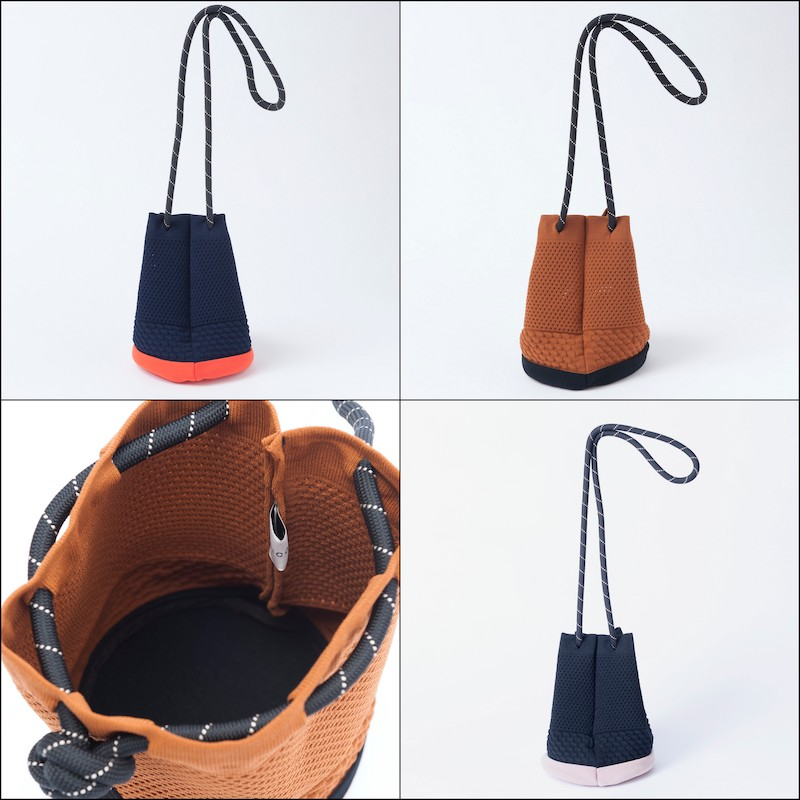 【TRICOTE】 トリコテ RUBBER EYELET BAG
