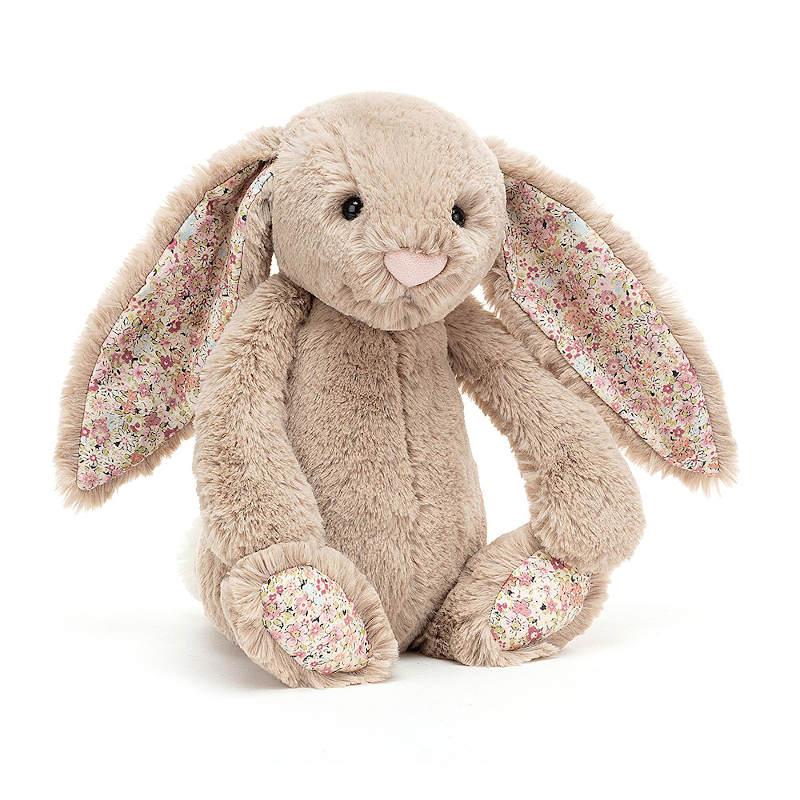 JELLYCAT Medium Blossom Bea Beige Bunny(BLN3BB) うさぎ ぬいぐるみ ベージュ 花柄