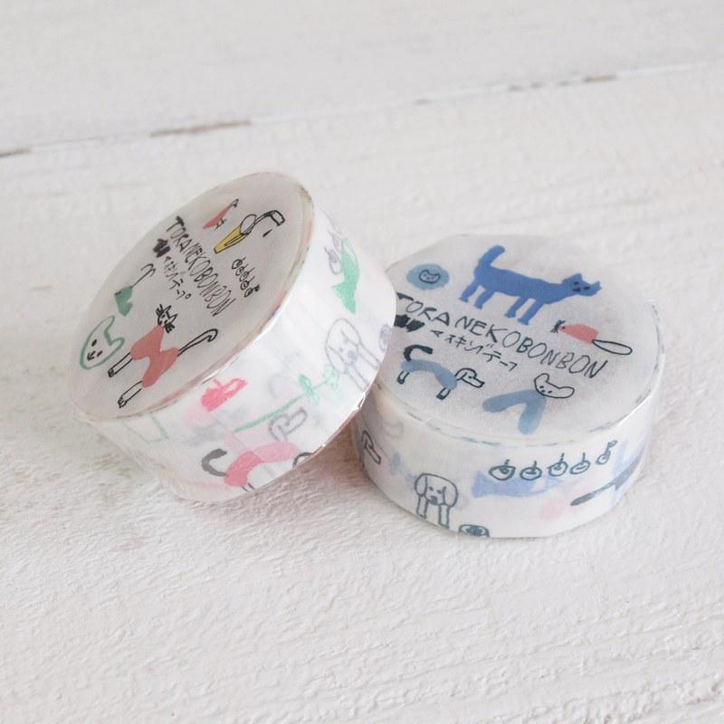 トラネコボンボン × 倉敷意匠計画室 マスキングテープ 記憶のモンプチ 20mm