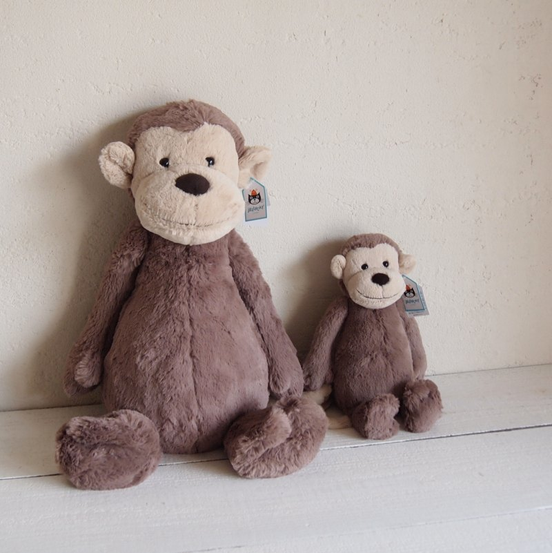 JELLYCAT Bashful Monkey Huge(BAH2M) さる ぬいぐるみ