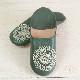 Morocco Babouche バブーシュ ビーズスパンコール 青緑×アイボリー×オーロラ