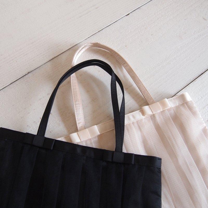 【Design Factory】リボン付サテンチュールバッグ
