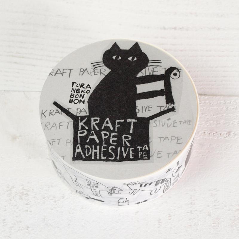 トラネコボンボン × 倉敷意匠計画室 クラフト粘着テープ (Cat)