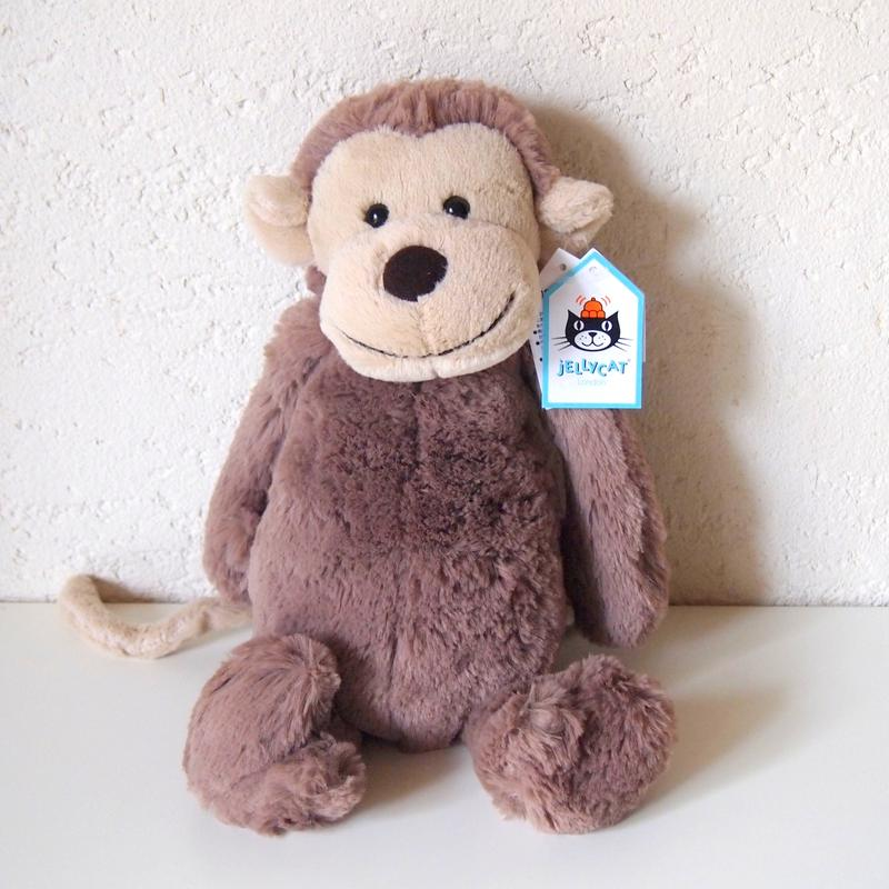 JELLYCAT Medium Bashful Monkey(BAS3MK) さる ぬいぐるみ
