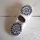 Morocco Babouche バブーシュ 刺繍スパンコール 白×青×シルバー