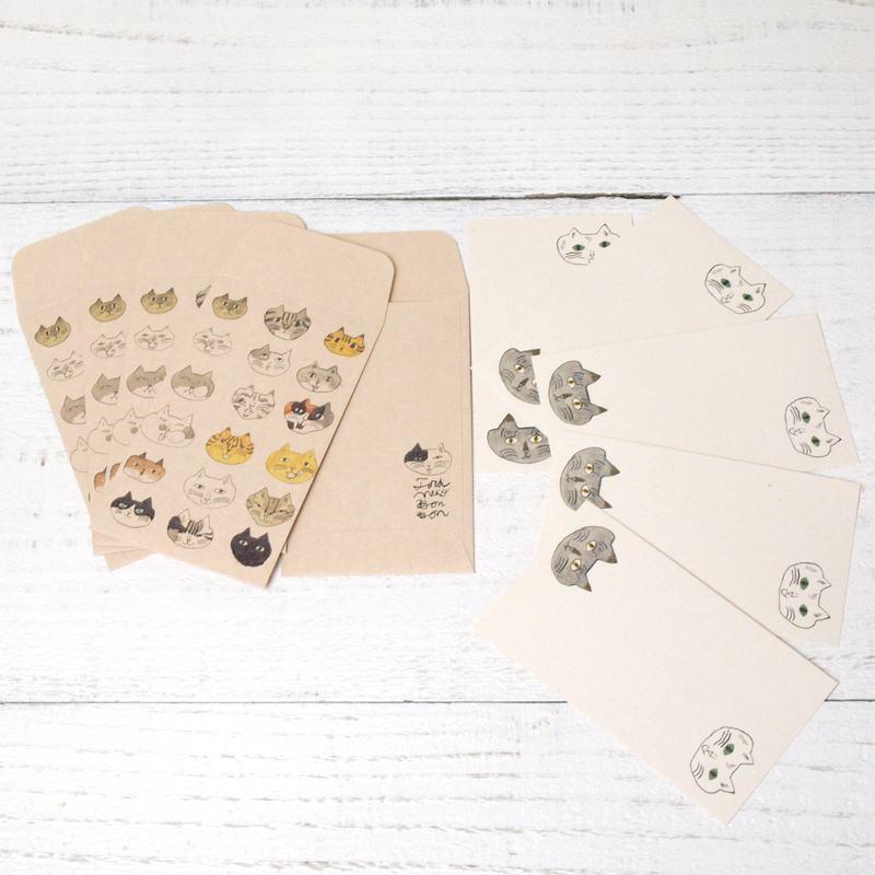 トラネコボンボン × 倉敷意匠計画室 ぽち袋 + カードセット