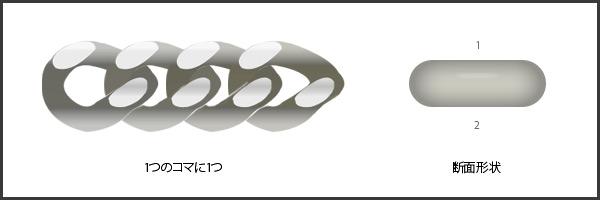 Pt850 2面 50g/60cm 喜平 キヘイ ネックレス プラチナ 【造幣局検定マーク入り】【新品】【日本製】