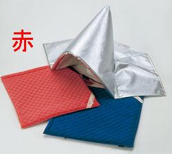 防災頭巾カバー (座布団式)  赤 頭巾なし