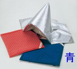 防災頭巾カバー (座布団式)  青 頭巾なし