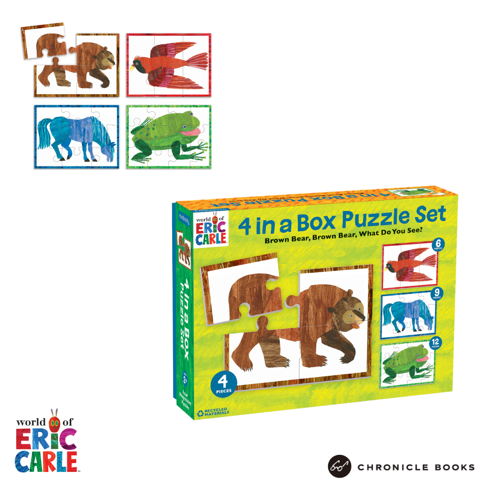 エリック・カール くまさんパズル 4 in BOX