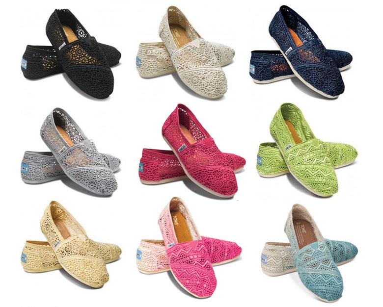 TOMS トムズ Crochet Women's Classics クロシェ クラシック フラットシューズ