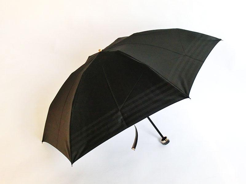 ◇◆◇ BURBERRY ★ バーバリー ◇◆◇ 折りたたみ傘 裏ライン/ブラック/ゴールド レディース