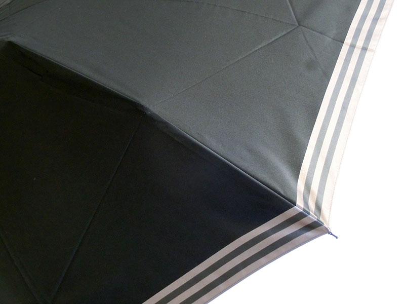 ◇◆◇ BURBERRY ★ バーバリー ◇◆◇ 折りたたみ傘 ライン/ブラック/ゴールド メンズ