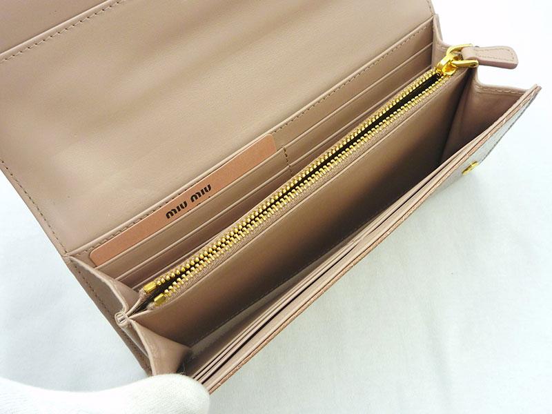 ◇◆◇ MIUMIU ★ ミュウミュウ ◇◆◇ クロコ 二つ折長財布 5M1109 CIPRIA