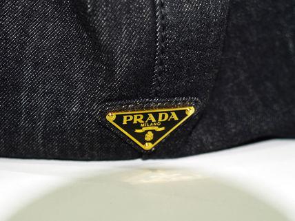 PRADA プラダ カナパ ロゴ トート B2642B Mサイズ デニムブラック