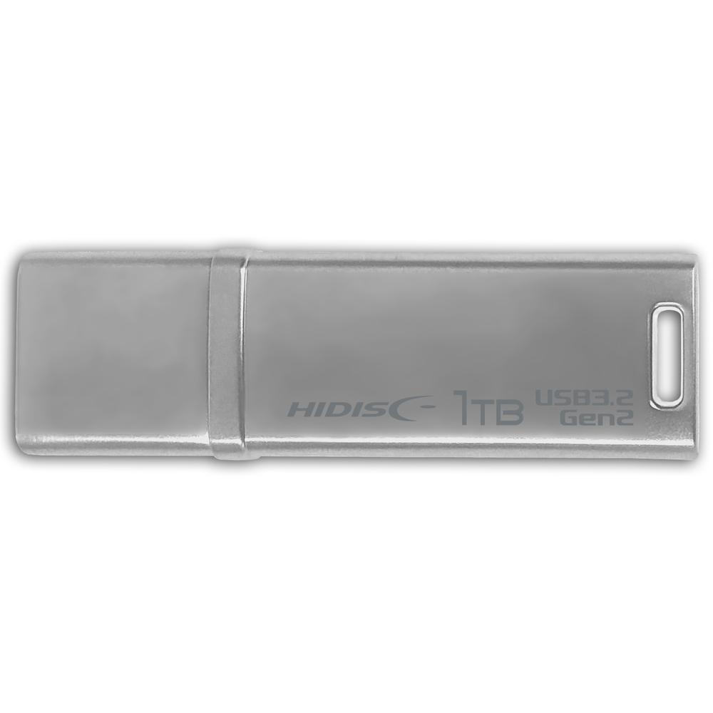 高速転送 HIDISC USB 3.2 Gen2 フラッシュドライブ 1TB シルバー キャップ式 HD2UF129C1TG3