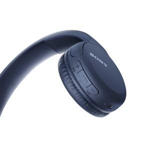 *受発注* ソニー ワイヤレスステレオヘッドセット ブルー WH-CH510/L 1個