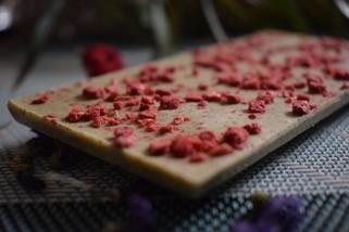 シベリアチョコレート ミントとイチゴ入りホワイトチョコレート 100g