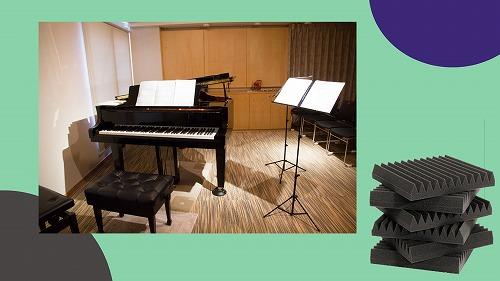 HIDISC Youwei 粘着テープ付高密度音響ウェッジ吸音パネル 60x60x5cm パープル 6枚入り FA-PU60