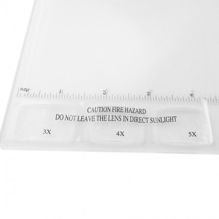 HIDISC  3つの小さな異なる倍率の凸型レンズを搭載した フルページアクリルフレネルレンズ拡大鏡 HD-267SHEET