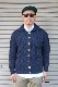 【INVERALLAN】 3A BUTTON DOWN CARDIGAN -NAVY-