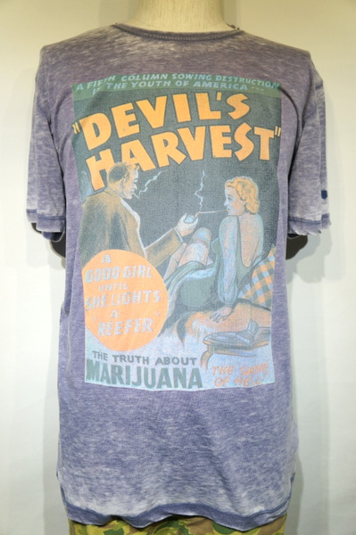 【WORN BY】 DEVILS HARVES T TSHIRT -NAVY- WBMT0756NAVY
