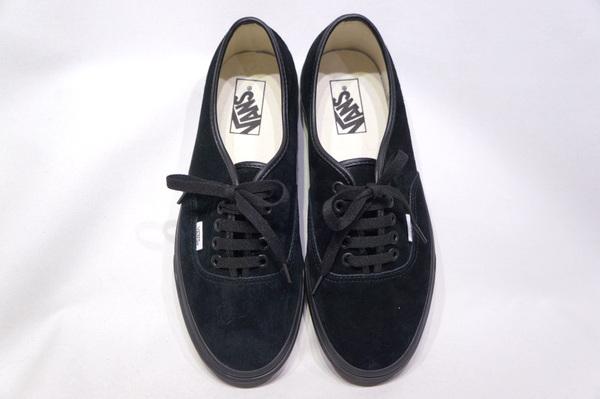 【VANS LIMITED】 AUTHENTIC -PIGSUEDE BLACK BLACK- VN0A2Z5I18L