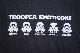 【8 BALL】 STORM TROOPER EMOTICONS -BLACK-