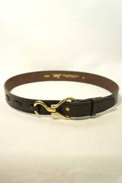 【TORY LEATHER】 HOOK BELT BUCKLE BRASS -HAVANA- TL71260