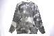 【TOWN CRAFT】 TIE DYE CREW NECK SWEATER ACRYLIC SHAGGY JACQUARD -BLACK CAMO- TC20F021