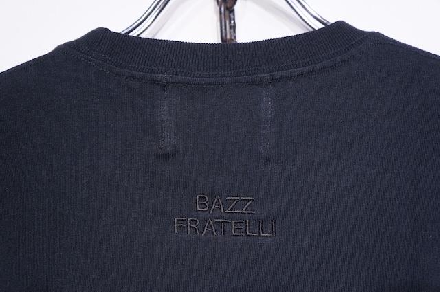 【BAZZ FRATELLI】STUDS POCKET TEE -BLACK-
