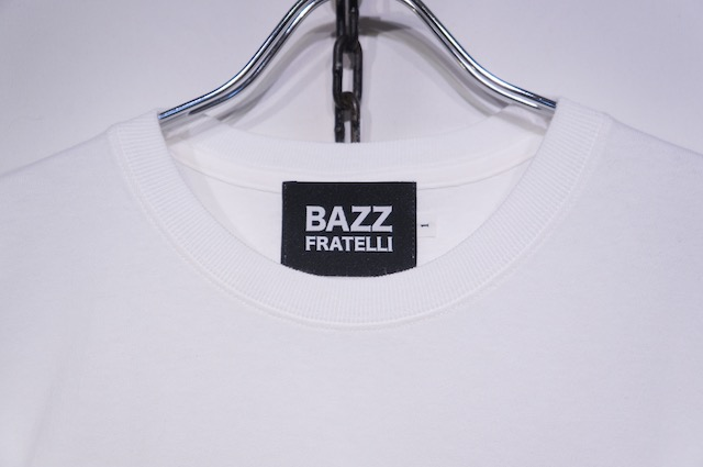 【BAZZ FRATELLI】STUDS POCKET TEE -WHITE-