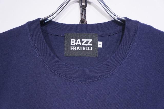 【BAZZ FRATELLI】STUDS POCKET TEE -NAVY-