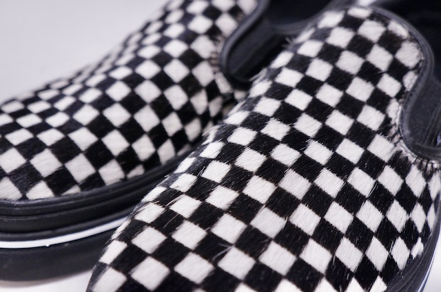 【VANS LIFESTYLE】 SUPER COMFYCUSH SLIP ON -FURY BLACK WHITE- VN0A4U1F50A