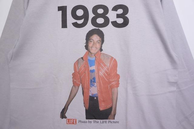 【SCREEN STARS】MICHAEL JACKSON 1983 LONG SLEEVE TEE -GREY-