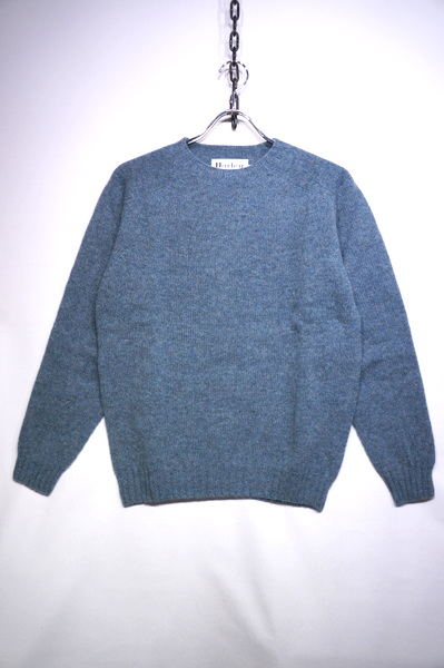 【HARLEY OF COTLAND】 CREW NECK SWEATER -GRAPHITE GREEN- 2474