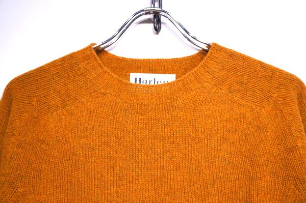 【HARLEY OF COTLAND】 CREW NECK SWEATER -VINTAGE ORANGE- 2474