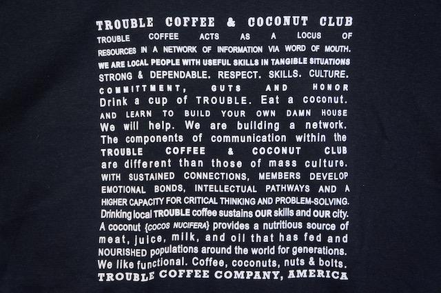 【TROUBLE COFFEE】CONCEPY -BLACK-