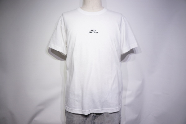 【BAZZ FRATELLI】 BAZZ MBROIDERY LOGO TEE 13 STARS -WHITE-
