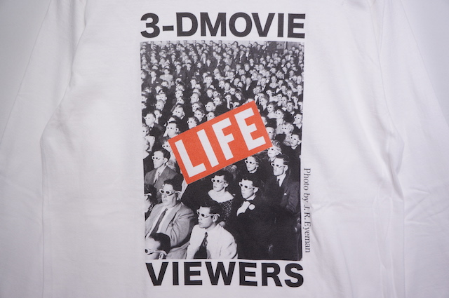 【ONEITA】LIFE 3D MOVIE LONG SLEEVE TEE -WHITE-