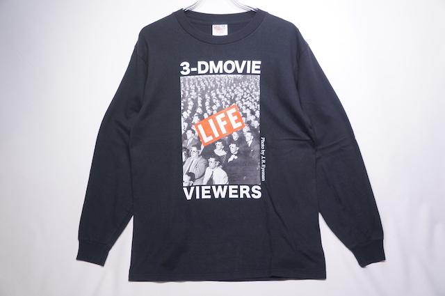 【ONEITA】LIFE 3D MOVIE LONG SLEEVE TEE -BLACK-
