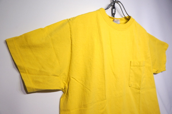 【GOOD WEAR】 【JAPAN CUSTOM】 OVER DYE SS CREW NECK POCKET TEE -CITRON YELLOW-