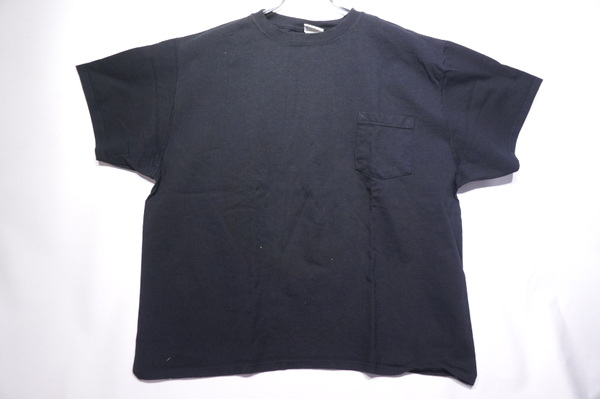 【GOOD WEAR】 【JAPAN CUSTOM】 OVER DYE SS CREW NECK POCKET TEE BIG -BLACK-