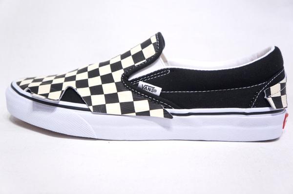 【VANS 48 PRS】 CLASSIC SLIP ON ORIGAMI -CHECKER BOARD TRUE WHITE- VN0A4TZTQXH (1)
