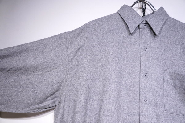 【BURLAP OUTFITTER】 LS BB SHIRT WV -H GREY-