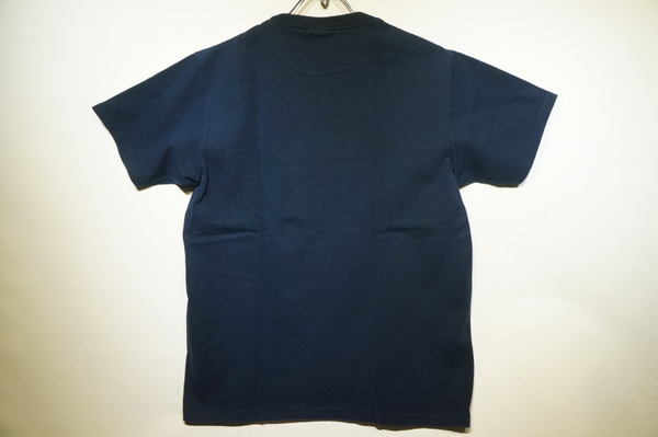 【GOOD WEAR】 【JAPAN CUSTOM】 OVER DYE SS CREW NECK POCKET TEE -NAVY-