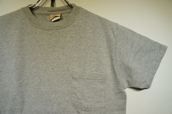 【GOOD WEAR】 【JAPAN CUSTOM】 SS CREW NECK POCKET TEE -OXFORD GREY-