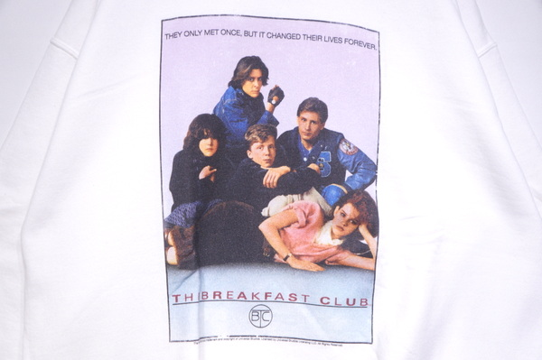 【THRIFTY LOOK】 PRINT CREW NECK SWEAT-THE BREAK FAST CLUB WHITE-