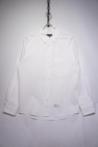 【LEITEMOTIF】 RAGLAN BD SHIRT -CHAMBRAY WHITE- 【FLEAKER MODEL】